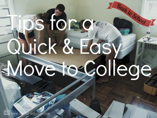 Back to School: Tips for a Quick and Easy Move to College